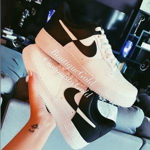 Customs Nike Air force 1 white & black